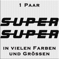 SUPER Aufkleber Paar Variante 2