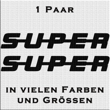 SUPER Aufkleber. Jetzt bestellen! ✅