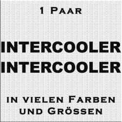 Intercooler Schriftzug - Paar