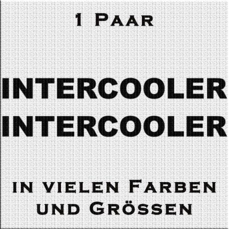 Intercooler Schriftzug - 1 Paar. Jetzt bestellen!✅