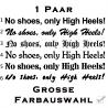 No shoes , only High Heels! Aufkleber - Paar. Jetzt bestellen!✅