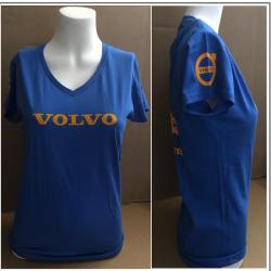 Damenshirt blau Volvo. Jetzt bestellen!✅
