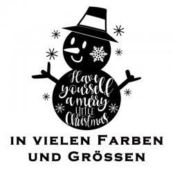 Schneemann Aufkleber Weihnachten. Jetzt bestellen!✅