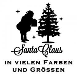 Santa Claus Fensterdekor Aufkleber. Jetzt bestellen!✅