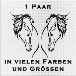 Pferd Aufkleber Paar Variante 1. Jetzt bestellen!✅