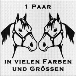 Pferd Aufkleber Paar Variante 3. Jetzt bestellen!✅
