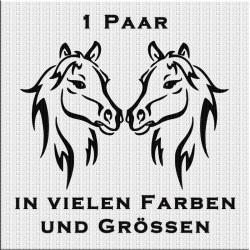 Pferd Aufkleber Paar Variante 5. Jetzt bestellen!✅