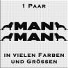 MAN Löwe mit Schriftzug Paar Variante 2. Jetzt bestellen!✅