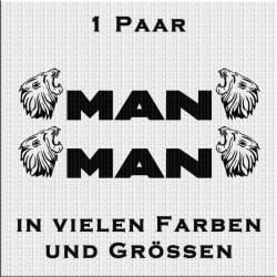 MAN böser Löwe mit Schriftzug Paar