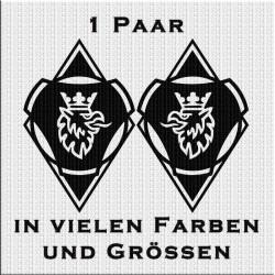 Raute Aufkleber Paar mit Scania Vabis Greif Variante 2. Jetzt bestellen!✅