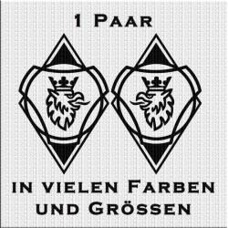 Raute Aufkleber Paar mit Scania Vabis Greif Variante 3. Jetzt bestellen!✅