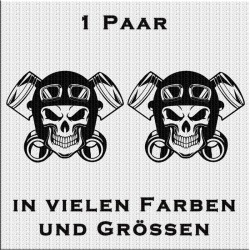 Totenkopf Aufkleber 1 Paar. Jetzt bestellen!✅