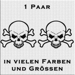 Totenkopf Aufkleber 1 Paar Variante 2. Jetzt bestellen!✅