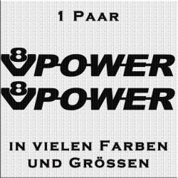 V8 Power Aufkleber Paar