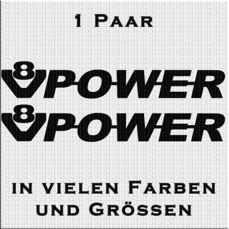 V8 Power Aufkleber Paar. Jetzt bestellen!✅