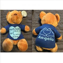 Teddybär mit Shirt und Geburtsdaten. Jetzt bestellen!✅