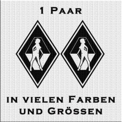 Raute Aufkleber Paar Renault mit Frau. Jetzt bestellen!✅