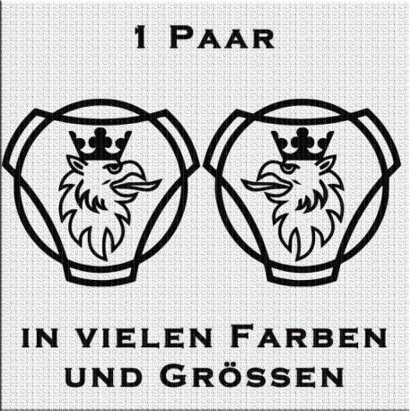 Scania Vabis Greif Aufkleber Paar. Jetzt bestellen!✅