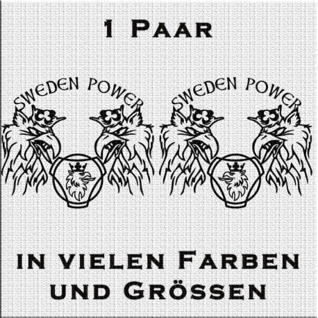 Sweden Power Vabis Greif Aufkleber Paar. Jetzt bestellen!✅