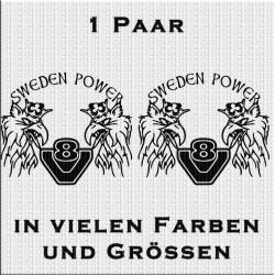Sweden Power V8 Aufkleber Paar. Jetzt bestellen!✅