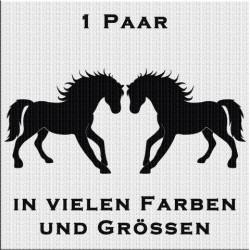 Pferd Silhouette Aufkleber Paar. Jetzt bestellen!✅
