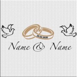Just Married Aufkleber Variante 3. Jetzt bestellen!✅