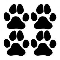 Tierpfoten Aufkleber - 4 Stück