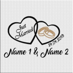 Just Married Aufkleber Variante 4. Jetzt bestellen!✅