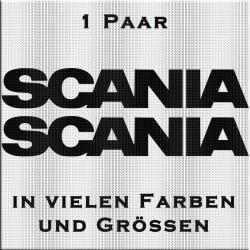 Scania Schriftzug Aufkleber - Paar