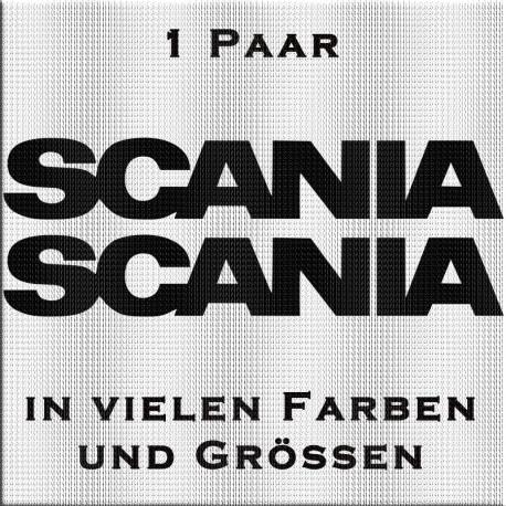 Scania Schriftzug Aufkleber. Jetzt bestellen! ✅