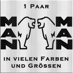 MAN Schriftzug mit Löwe Paar Variante 2