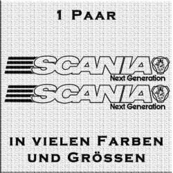 Scania mit Logo Next Generation Aufkleber Paar