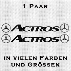 Actros mit Stern Aufkleber Paar. Jetzt bestellen!✅