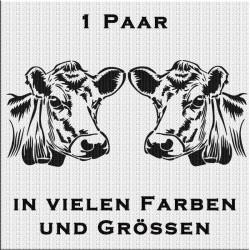 Kuhkopf Variante 3 Aufkleber Paar. Jetzt bestellen!✅