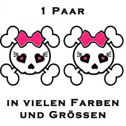 Kitty Totenkopf 2 Farbiger Aufkleber 1 Paar.jetzt bestellen! ✅