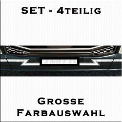 4 teiliges Volvo Frontdekorstreifen Set. Jetzt bestellen!