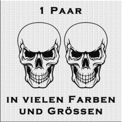 Skull Totenkopf Aufkleber 1 Paar. Jetzt bestellen! ✅