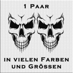 Totenkopf Skull Aufkleber 1 Paar