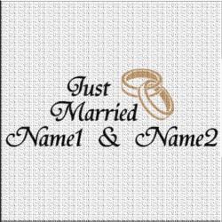 Just Married Hochzeits - Autoaufkleber. Jetzt bestellen!✅