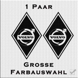 Raute Aufkleber Paar mit Volvo Variante 2. Jetzt bestellen!✅
