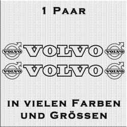 Volvo mit Logo Aufkleber in Kontur 1 Paar. Jetzt bestellen!✅