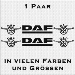 DAF mit Logo Aufkleber 1 Paar. Jetzt bestellen!✅