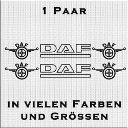 DAF mit Logo Aufkleber in Kontur 1 Paar. Jetzt bestellen!✅