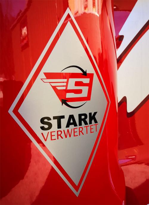 Auf Kundenwunsch angefertigte Raute für die Firma Stark Recycling in Lindau am Bodensee.