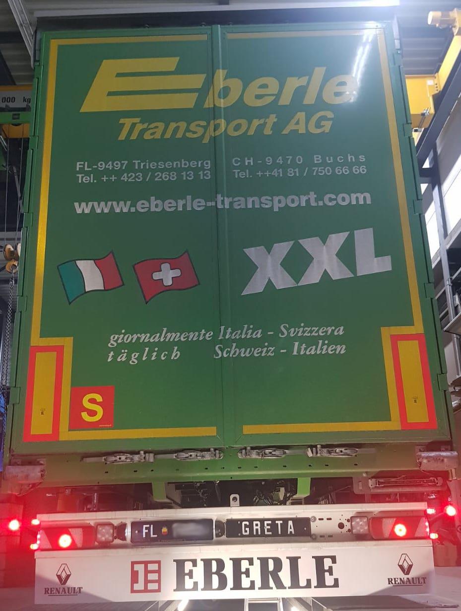 Renault Heckschürze beschriftet für die Firma Eberle.