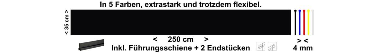 Schmutzfänger und Heckschürzen sind bei bei meinsticker.com in den Farben schwarz - blau - rot - gelb und weiss ständig vorrätig und sofort lieferbar.