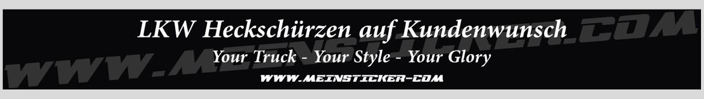 Beschriftete Heckschürzen und Schmutzfänger nach Kundenwunsch gestaltet, produziert und liefert www.meinsticker.com in TOP-Qualität. Jede Heckschürze ist ein Einzelstück, denn deine Beschriftung wirkt!
