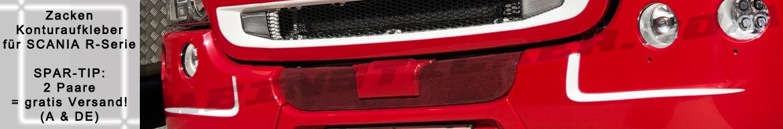 Zacken Kontur Aufkleber für die Scania Stoßstange der R-Serie